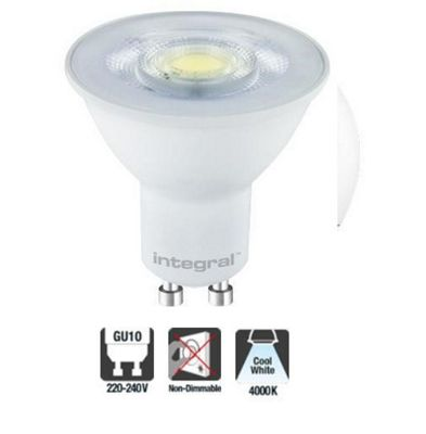Integral LED GU10 Classic PAR16 4.7W (55W) 4000K 420lm Non-Dimmable Spotlight Light Bulb