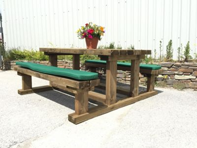 Picnic Bench Cushion Forest Green