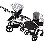 My Babiie MB150GC 3 in 1 Pushchair (Grey Chevron)