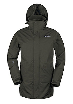 Mountain Warehouse Glacier Extreme Mens Long Waterproof Jacket - Green