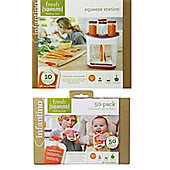 Infantino Bundle - Infantino Fresh Squeezed Squeeze Station And Infantino Fresh Squeezed Squeeze Station 50 Pouch Pack - 2 Items Supplied