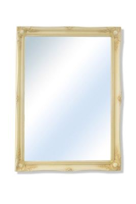 Large Ivory Ornate Shabby Chic Wall Mirror 3Ft11 X 3Ft