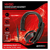 XH-50 WIRED MONO HEADSET (BLACK/RED) (PC,MAC,PS4,XB1) (2/24)