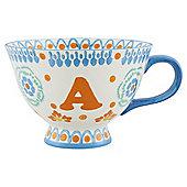 Alphabet Footed Mug A