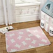 Pink Teddy Bear Lightweight Mat 100 x 70 cm