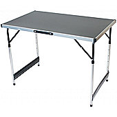 Lightweight Aluminium Preparation And Dining Table Silver & Black / 4 adjustable