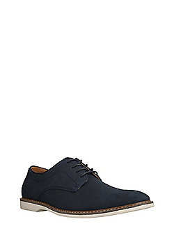 F&F Faux Suede Lace-Up Shoes - Navy