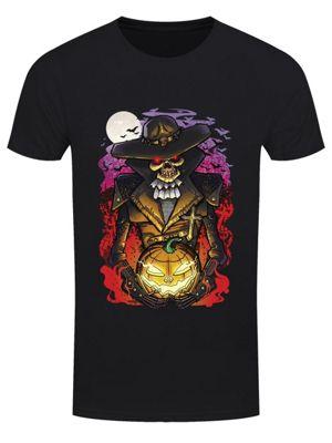 Halloween Undead Walker Men's Black T-Shirt