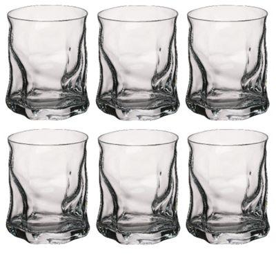 Bormioli Rocco Sorgente Whisky Tumbler Glasses - 420ml (15oz) - Set of 6