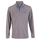 Woodworm Golf Mens 1/4 Zip Pullover / Sweater / Jumper - Grey