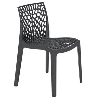 Brackenstyle Neptune Polypropylene Chair - Anthracite Black