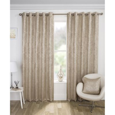 Enhanced Living Halo Natural Blockout Eyelet Curtains - 46x54 Inches (117x137cm)