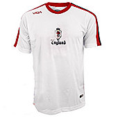 Viga England National Football Shirt Jersey - White