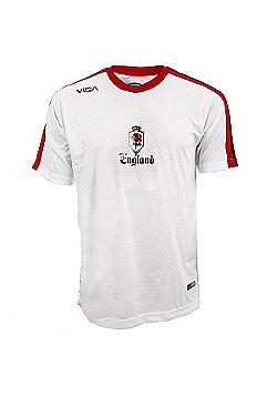 Viga England National Football Shirt Jersey - White