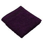 Homescapes Grape Luxury Face Cloth 500 GSM 100% Egyptian Cotton, 30 x 30 cm