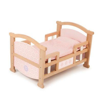 Tidlo 2 in 1 Wooden Doll's Cradle