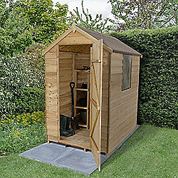 Forest Garden 6x4 Overlap Pressure Treated Apex Shed