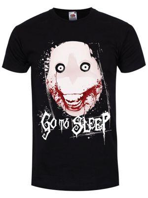 Go To Sleep Men's Black T-Shirt