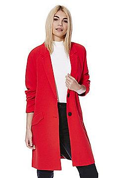 Vero Moda Crepe Boyfriend Coat - Red