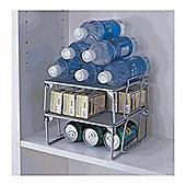 Design Ideas Silver Wire Mesh Stuff Storage Shelf 351909
