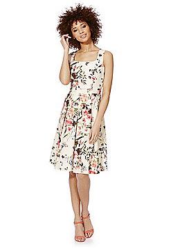 F&F Floral Print Sleeveless Prom Dress - Multi