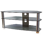 ValuFurniture Brisa 1200mm Smoked Glass TV Stand for up to 60 inch