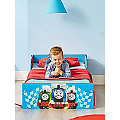 Thomas & Friends Blue Toddler Bed Plus Fully Sprung Mattress