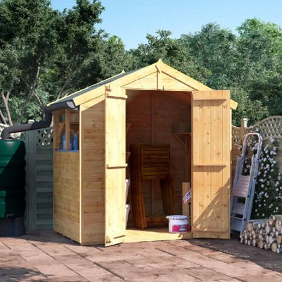 BillyOh Master Tongue and Groove Apex Wooden Garden Shed - 4 x 6 Windowed