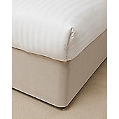 "Belledorm Divan Bed Base Valance Sheet Wrap 15"" Luxury Faux Suede - Biscuit"
