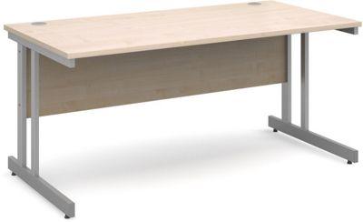 DSK Momento 1600mm Straight Desk - Maple