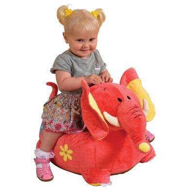 Plush Elephant Childs Sofa Riding Chair (Pink)