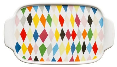 Sagaform Brightly Coloured Harlequin Check Butter Dish