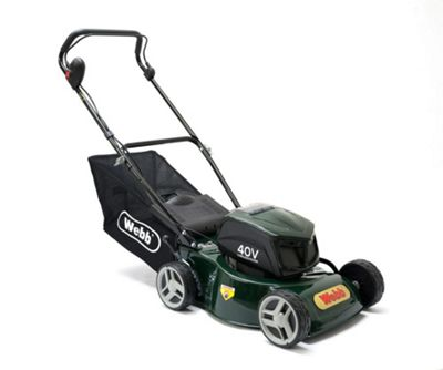 Webb 41cm/16in Push, Steel Deck, 4-wheel Cordless Rotary Lawnmower