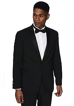 F&F Slim Fit Tuxedo Jacket - Black