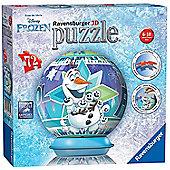 Disney Frozen 'Olaf' S Adventures' 3d 72 Piece Ball Jigsaw Puzzle Game