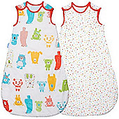Grobag Twin Pack Spotty Bear 2.5 Tog Sleeping Bags (6-18 Months)