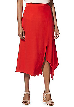 F&F Asymmetric Midi Skirt - Red