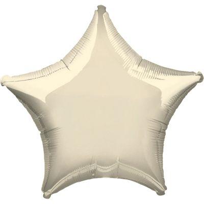 Iridescent Ivory Star Balloon - 19 inch Foil