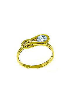 QP Jewellers 0.65ct Aquamarine San Francisco Ring in 14K Gold