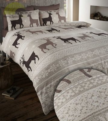 Helsinki duvet cover and pillowcases set - taupe - double
