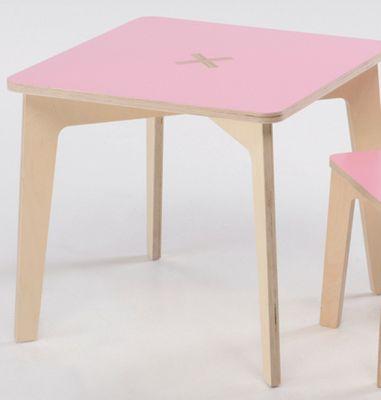 Foppapedretti Bambino Legno Tiscrivo Table in Natural / Pink
