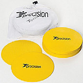 Precision Large Round Rubber Marker Discs - Yellow ( Set of 20 )
