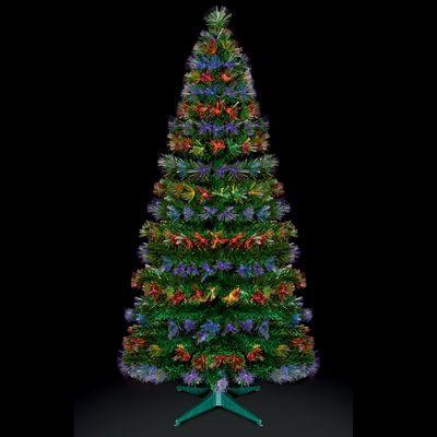 Premier 4ft Fibre Optic Burst Christmas Tree with Red-Blue & Red-Green LEDs - Buy Premier 4ft Fibre Optic Burst Christmas Tree With Red-Blue & Red