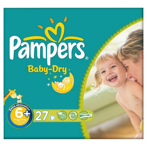 Pampers Baby Dry Size 6+ Essential Pack - 27 nappies