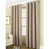"Country Club Thermal Blackout Eyelet Curtains 46"" X 54"", Linea Latte"