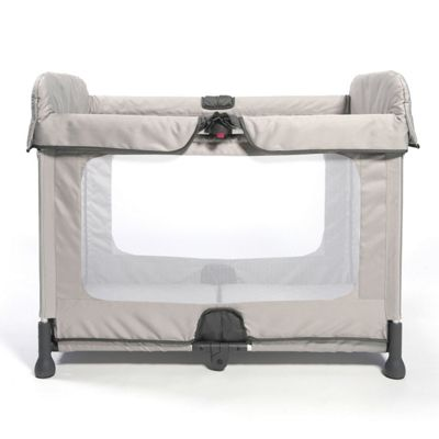 SpaceCot Alfa Flat Folding Full-sized Travel Cot Stone