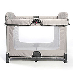 b9af2a59d SpaceCot Alfa Flat Folding Full-sized Travel Cot Stone
