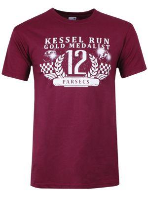 Kessel Run Gold Medalist Burgundy Men's T-shirt