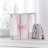 Clair de Lune 3pc Printed Cot Bed Bundle (Pink)