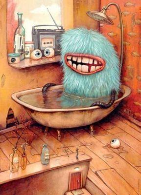 Bathtub - Zozoville - 1000pc Puzzle